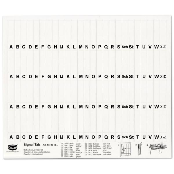 091300A Alpha-Tabs 10mm weiß, A-Z