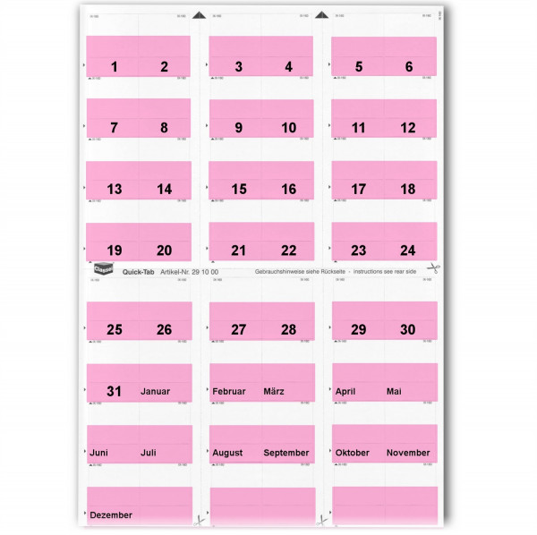 291005T Daten-Tabs rosa 1-31/Jan.-Dez.