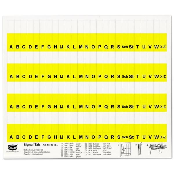 091301A Alpha-Tabs 10mm gelb, A-Z