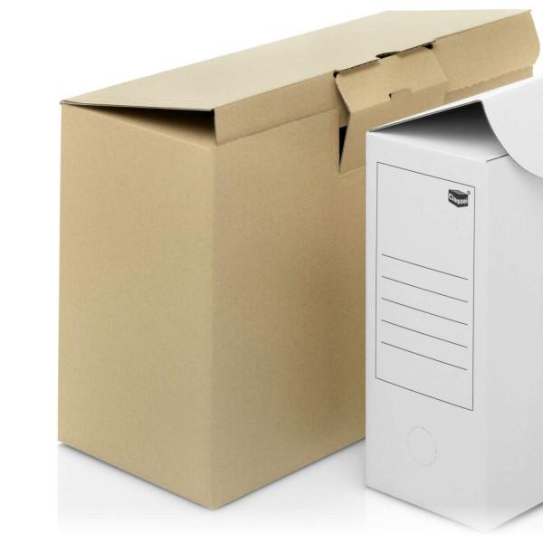 104521 Archivboxen braun