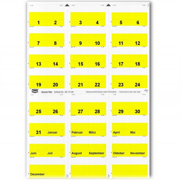 291001T Daten-Tabs gelb 1-31/Jan.-Dez.
