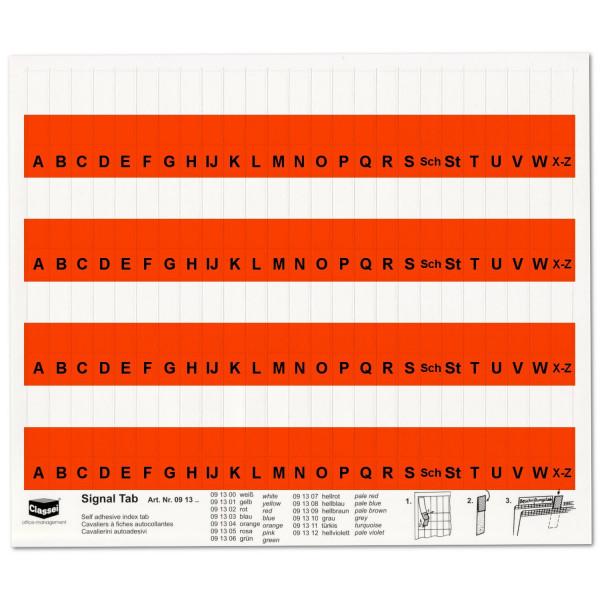 091302A Alpha-Tabs 10mm rot, A-Z
