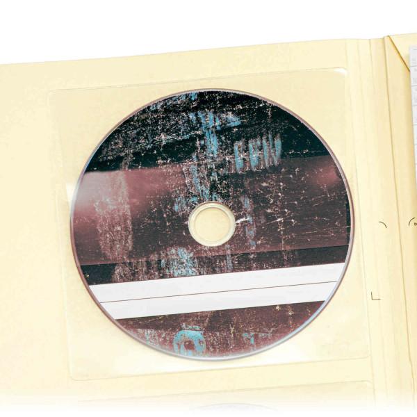 440153 CD-Sichttaschen m. Verschluß, selbstklebend