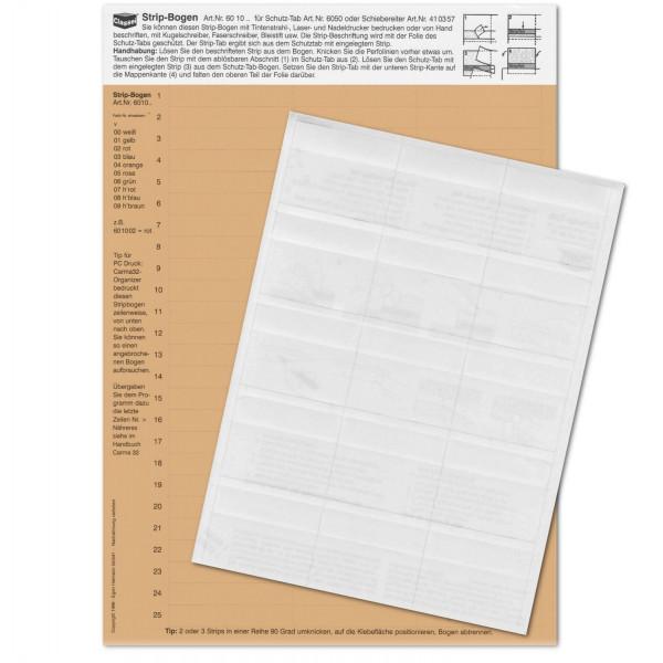 601009P Strip-Tabs-Pck. hellbraun 10x57,5mm