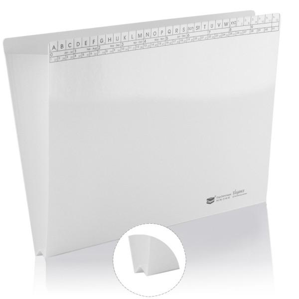 214045 Orga-Dehnmappen Elegance weiß 250g