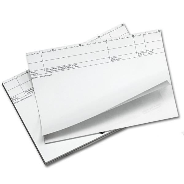 806208 Planblätter, geblockt, m. Durchschrift