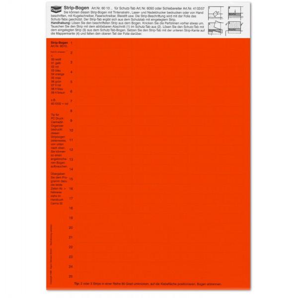601002 Strip-Tabs rot 10 x 57,5 mm