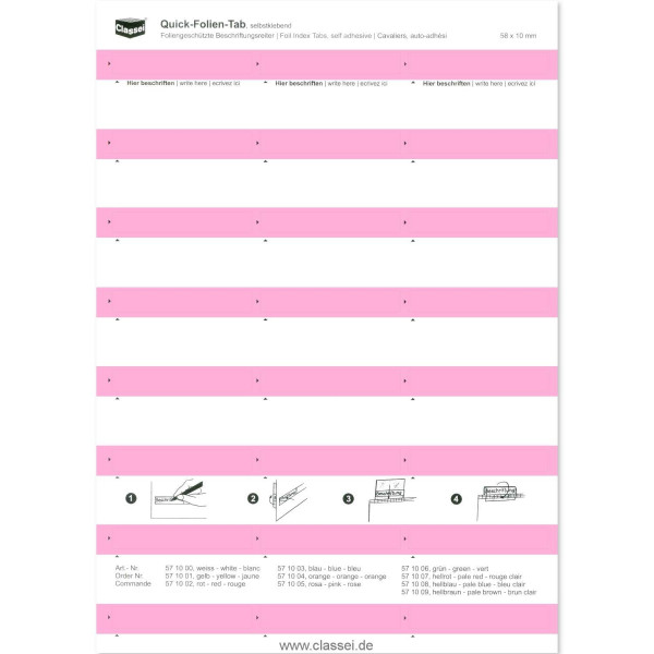 571005 Folien-Tabs rosa