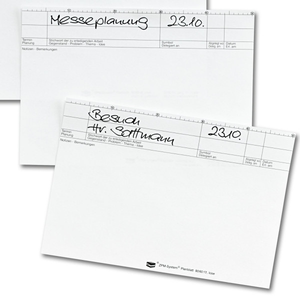 806017 Plankarten, ws, 170 g/qm, (Pck./50 Stück)