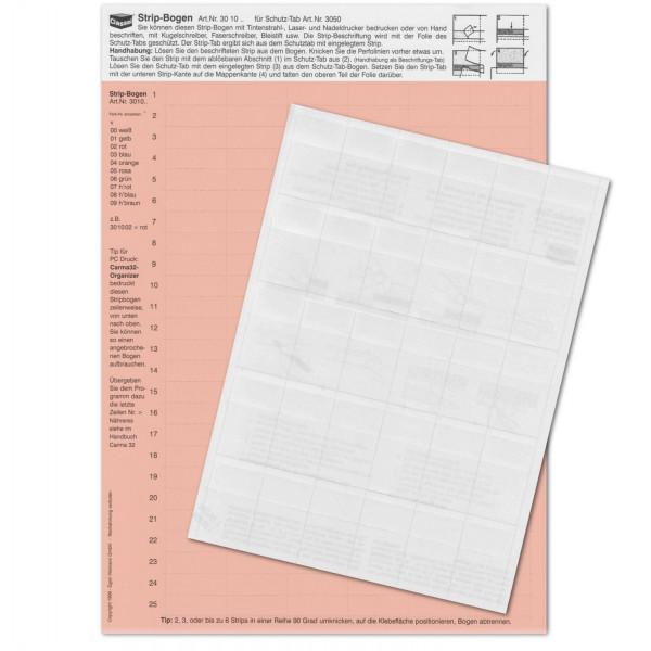 301007P StripTabs-Pck. hellrot 10x28,75mm
