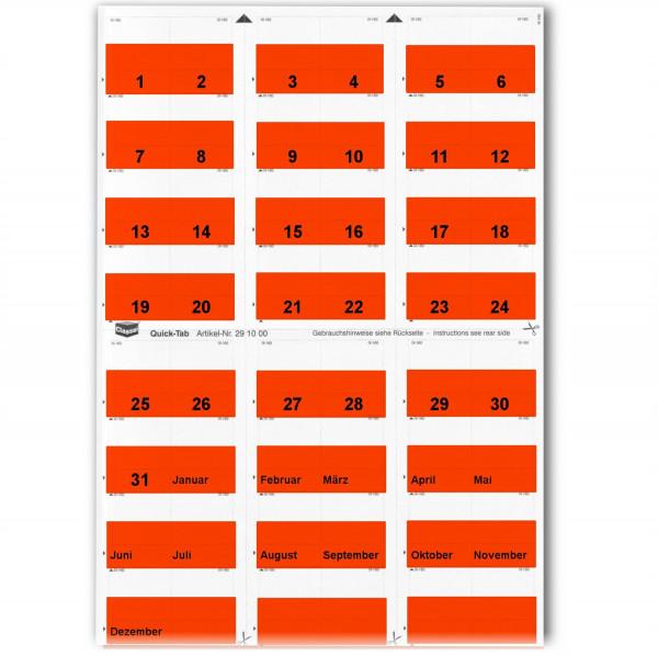 291002T Daten-Tabs rot 1-31/Jan.-Dez.