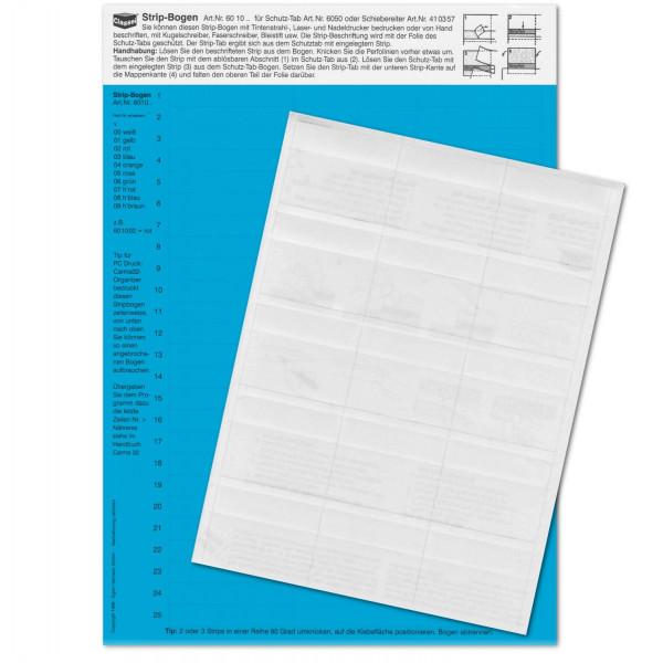 601003P Strip-Tabs-Pck. blau 10x57,5mm