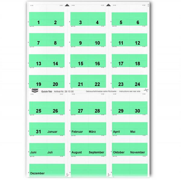 291011T Daten-Tabs türkis 1-31/Jan.-Dez.