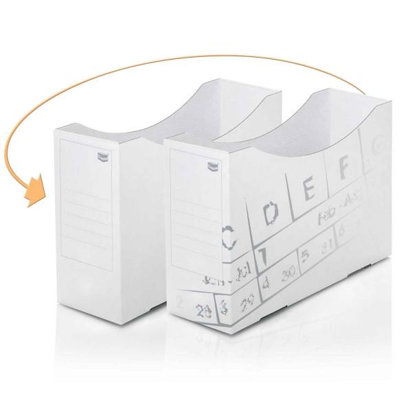 Orga Box im neuen Look mit dezentem Design-Druck