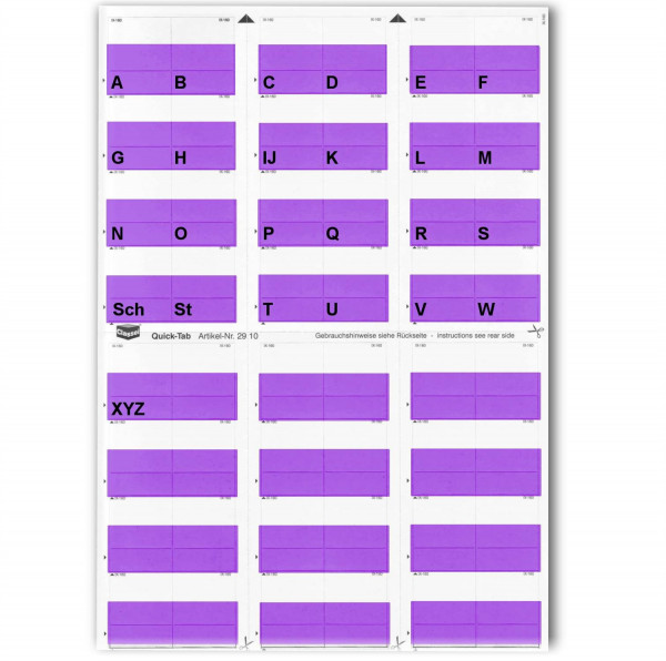 291015A Alpha-Tabs violett A-Z