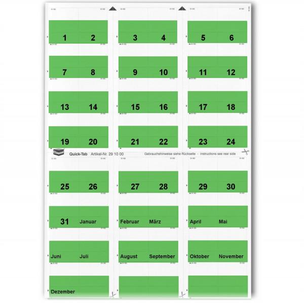 291016T Daten-Tabs dunkelgrün 1-31/Jan.-Dez.