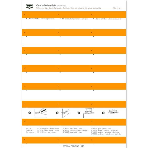 571004 Folien-Tabs orange