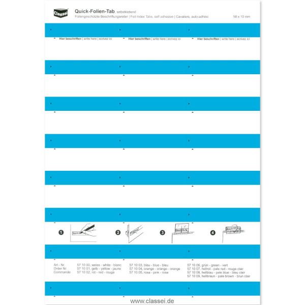 571003 Folien-Tabs blau