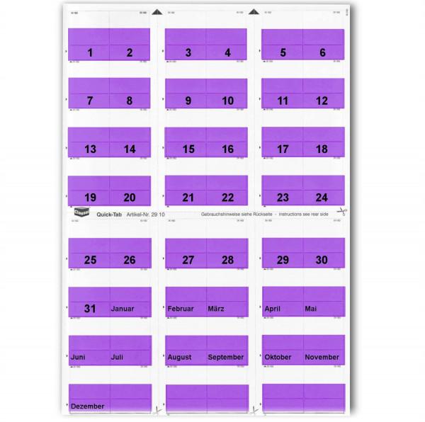 291015T Daten-Tabs violett 1-31/Jan.-Dez.