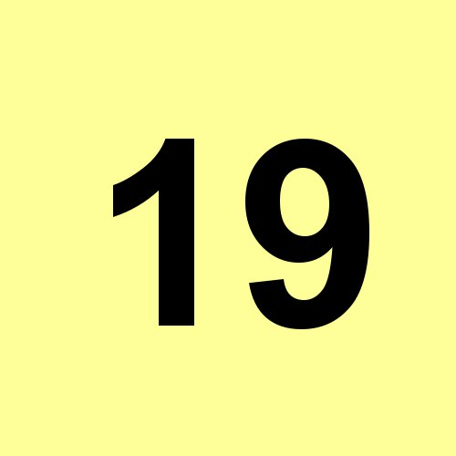 19 - hellgelb