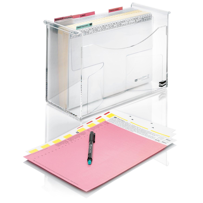 <p>Perfekt für Aufgaben am modernen Schreibtisch</p><p> <strong>Das Profi-Set beinhaltet:</strong><br/> 1 Acrylglas-Box (ArtNr. 104070)<br/> 10 Multifunktions-Mappen, mit Schiebereiter, transparent (ArtNr. 204462)<br> 30 Standard-Mappen (ArtNr. ...