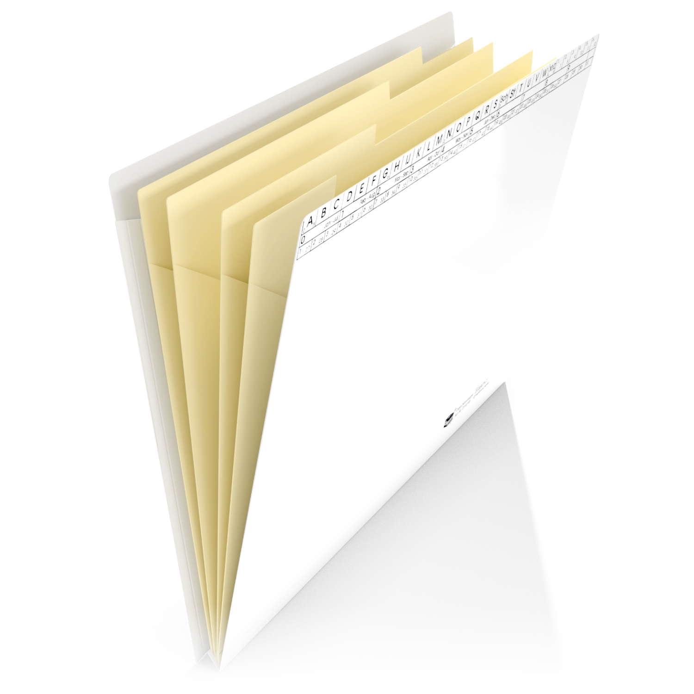 <p>nehmen Ihre Dokumente sicher und geschützt auf. Stabiler, beschichteter Chromoluxkarton und mit einer Dehnfalte ausgestattet sowie mit 5 Innenfächern zur Unterteilung des Schriftguts</p><p><b>Material:</b> Chromoluxkarton 250 g/m²<br><b>Farbe: ...