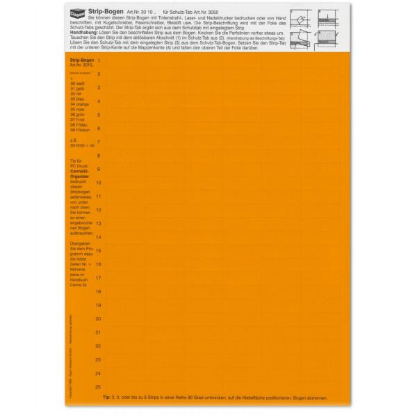 301004 StripTabs orange 10 x 28,75 mm