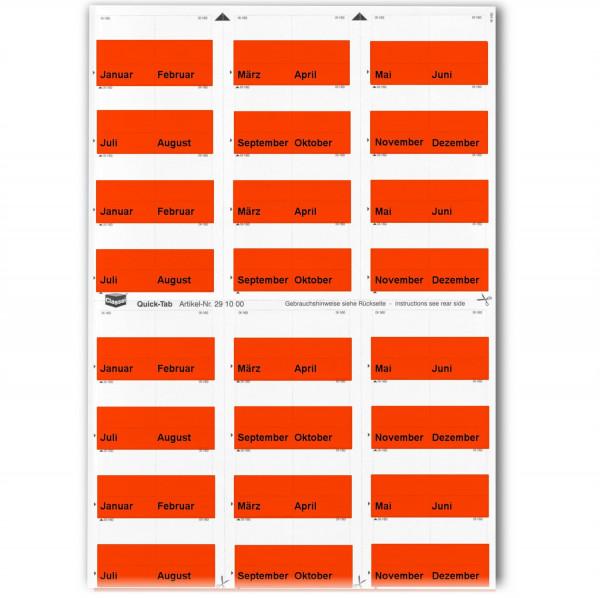 291002M Monats-Tabs rot (Januar-Dezember)
