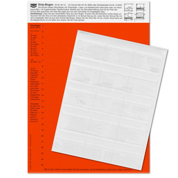 601002P Strip-Tabs-Pck. rot 10x57,5mm