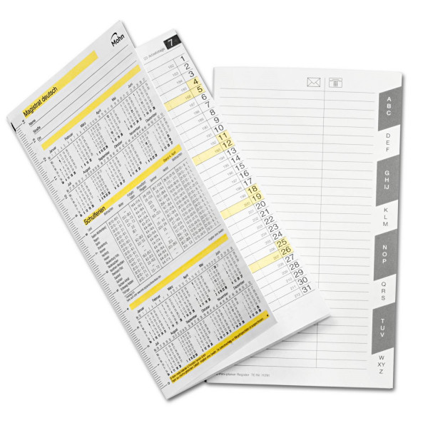818009 Kalender A6 für ZPM-Planer, zusteckbar
